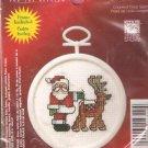 * Christmas Ornament Cross Stitch Kit - Mini Santa & Friend 2004