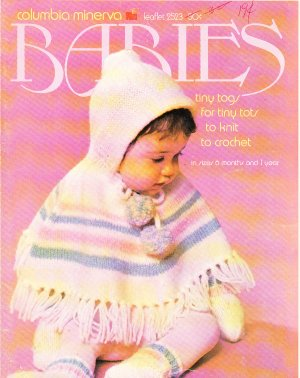 * Crochet/Knit * 5 *  Baby Patterns Tiny Togs 6 mo to 1 yr VINTAGE