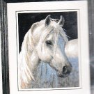 * WHITE STALLION HORSE Needlepoint KIT 2003 Gentle Strength 11 x 14