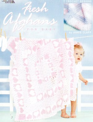 *Crochet  * 7 *  Baby Afghans - Heart Design - pLUS