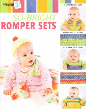 *Crochet  * 4 * Adorable  Romper Sets - Make them in Christmas Colors