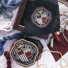 *McCall's Needlework 1996 - Heraldry Crest - Black Work -Needlepoint Pillow and Belt - Medieval