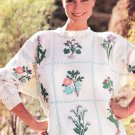 *Beautiful Sweater Pattern to Knit or Duplicate Stitch - Plus Alphabet Embroidery
