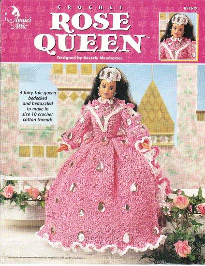 crochet annie s attic   rose queen fashion doll dress pattern