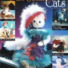"*CROCHET Annie's Attic - Purr-sonality Cats - 16"" Shelf Sitters"