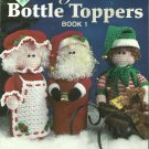 Maggie's Crochet - Holiday Bottle Toppers Santa Snowman Bunny