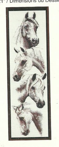 * Just-A-Chart Cross Stitch - White Horses