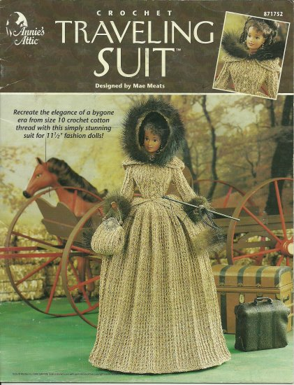 Annie's Attic Crochet Fashion Doll Traveling Suit