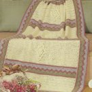 "*Crochet Bouqet Afghan Pattern - Quilt Charm - 48"" X 60"""