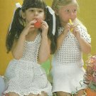 *Crochet Party Pinafore and Lacy Blouse Sizes 2 - 8