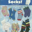 *Crochet Socks - Annie's Attic Love Those Socks - Beaded - Lacy - Ruffled