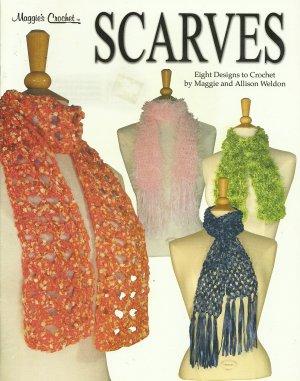 *Maggie's Crochet Scarfs - 8 Designs - Beaded - Lacy - Fuzzy