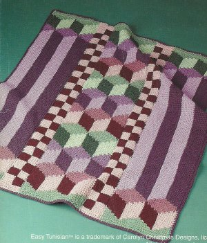 AFGHAN CROCHET ENTRELAC PATTERN TUNISIAN Crochet Patterns