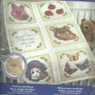 *stamped cross stitch QUILT BLOCKS ~ SWEET BABY FACES HTF