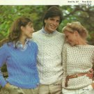 *Aran Knit Sweater Patterns Crochet Patterns by Bernat -Country Casuals