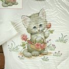 *Iron-On Decals - Fashion Art - Garden Kitty - Dimensions