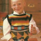 Crochet Indian Design Child's Sweater - Ripple Afghan Patterns
