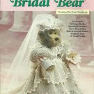 "*Crochet 13"" Bridal Bear - Heirloom-Quality Wedding Ensemble"