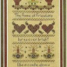 * Cross Stitch Pattern FLAME OF FRIENDSHIP SAMPLER 2001