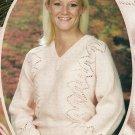 * Hard Back Knitting Book - Side-to-Side Lace Sweater /Adirondack Weekend