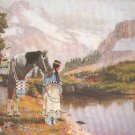 *Embellished Cross Stitch Kit  INDIAN MAIDEN ~ NATIVE SOLITUDE