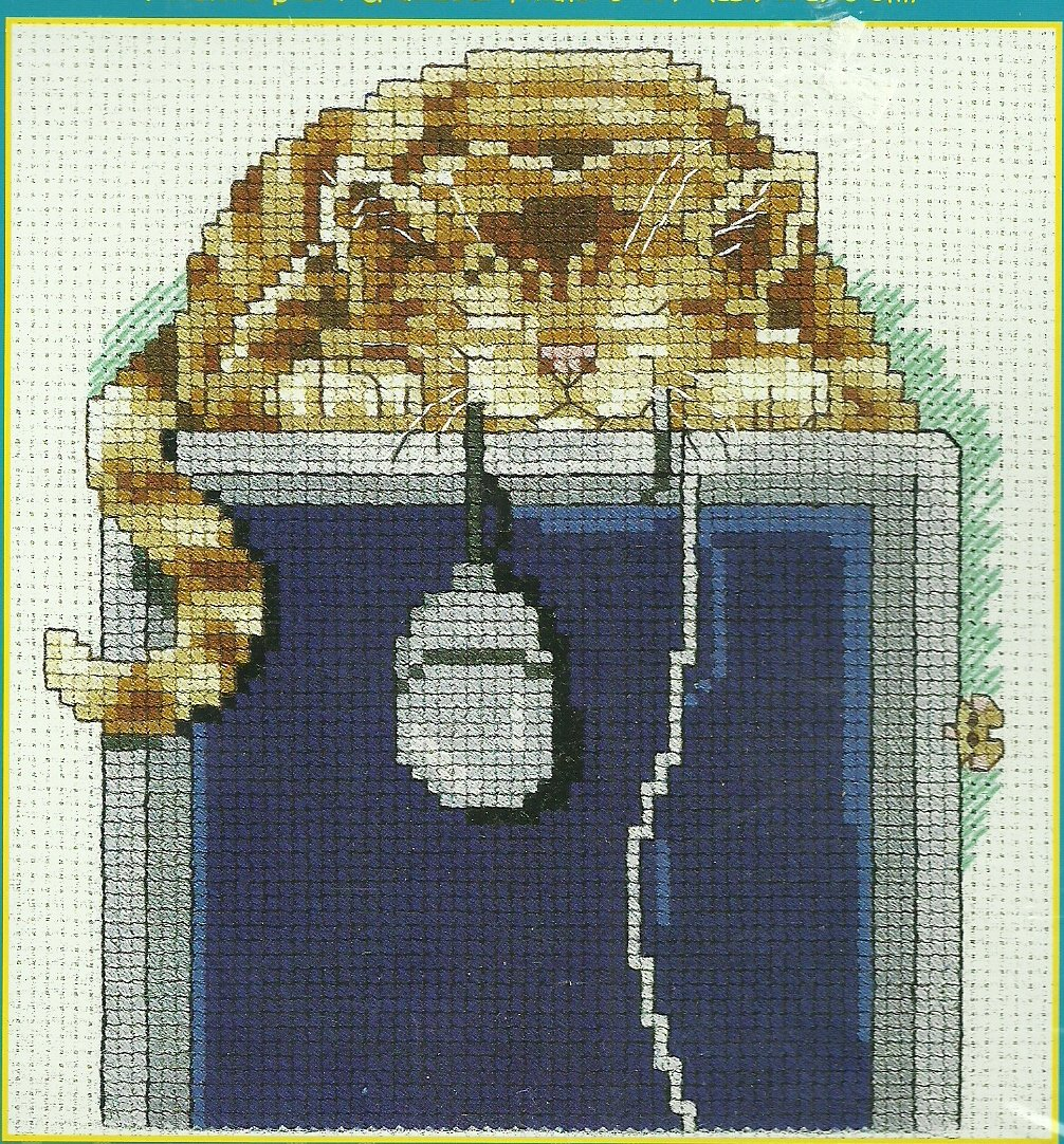 *Cross Stitch KIT Cat & Computer ~ THE MOUSER
