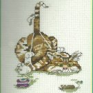 *Cross Stitch KIT Cat and String ~FIT TO BE TIED 2001