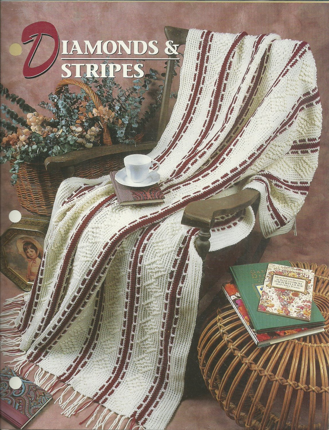 *Annie's Crochet Quilt Afghan Club -  Diamonds and Stripes