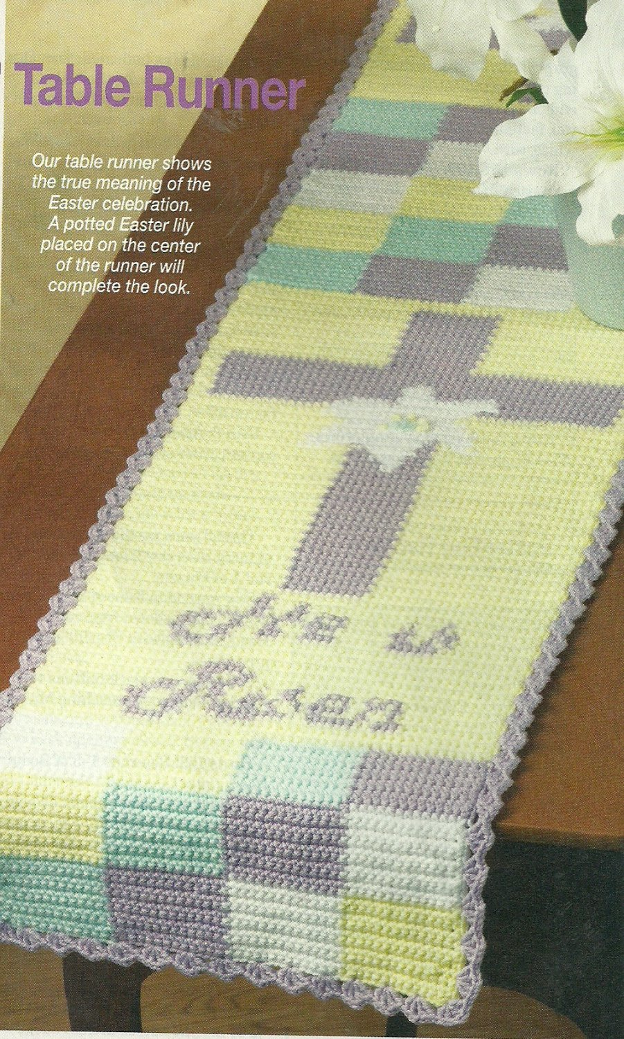 *Crochet World Mag - April - 2006 / Baby Boy Afghan - Easter Special