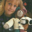 "*Crochet Patches Mocha Bear - 14"" tall - Tree Skirt - Mistletoe Stocking"