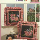 *CABBAGE ROSE PILLOWS 2 cross stitch patterns