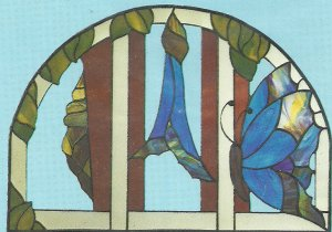 *Stained Glass Art - Hidden House Window Pattern J-4