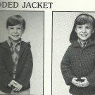 *Crochet Raglan Childrens Sweaters in Sz 4 - 14 Hooded Sweater