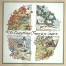 *All Seasons stamped cross stitch kit ~ To Everything There is a Season