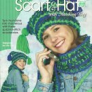 *Annie's Attic Crochet Puff Stitch Scarf - Hat - Bag