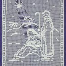 *White Christmas Collection - Blessed Nativity in Filet Crochet