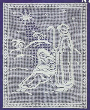 Free Filet Crochet Patterns For Christmas : CHRISTMAS CROCHET FILET PATTERNS Crochet Patterns Only