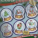 * Christmas Cross Stitch Kit - 6 Ornaments ~Angel, Tree, House +