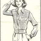 ** Crocheted  VINTAGE Mail Order Crocheted Vest-Jacket