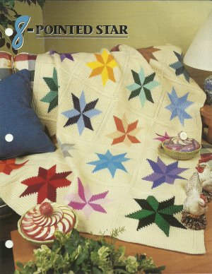 12 Point Star Afghan Pattern http://www.ecrater.com/p/15893040/8-pointed-star-afghan-pattern-annies