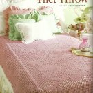 ** Bed of Roses Filet Throw - Tapestry Afghan - Spanish Ruana -