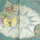 ** Crochet Lacy Round Baby Afghan - Hooded Jacket