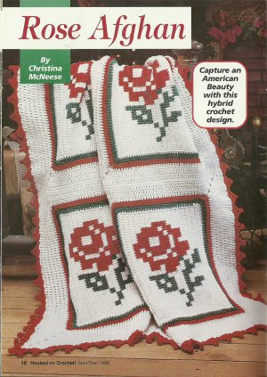 ** Hooked on Crochet - Christmas - Holstein Afghan -