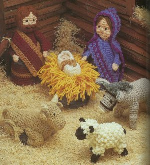 ** Annie's Attic Nativity/Creche - Angels - Santa/Snowman Afghans MORE