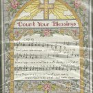 ** COUNT YOUR BLESSING Cross Stitch Kit 2003
