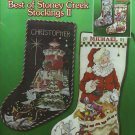 ** 4 Cross Stitch Patterns Best of Stoney Creek Stockings II