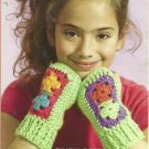 **Caron Simply Soft BRITES ! Wrist Warmers - Poncho - Afghan and Pillow