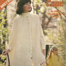 * Crochet Cape Pattern in Child to Adult Large Sizes- Vintage Pattern 1975    n