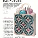 Plastic Canvas Pretty Practical Tote - Wedding Ring Design