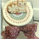 Cookie Jar Lid Painting Pattern - Rosemary West - Cat